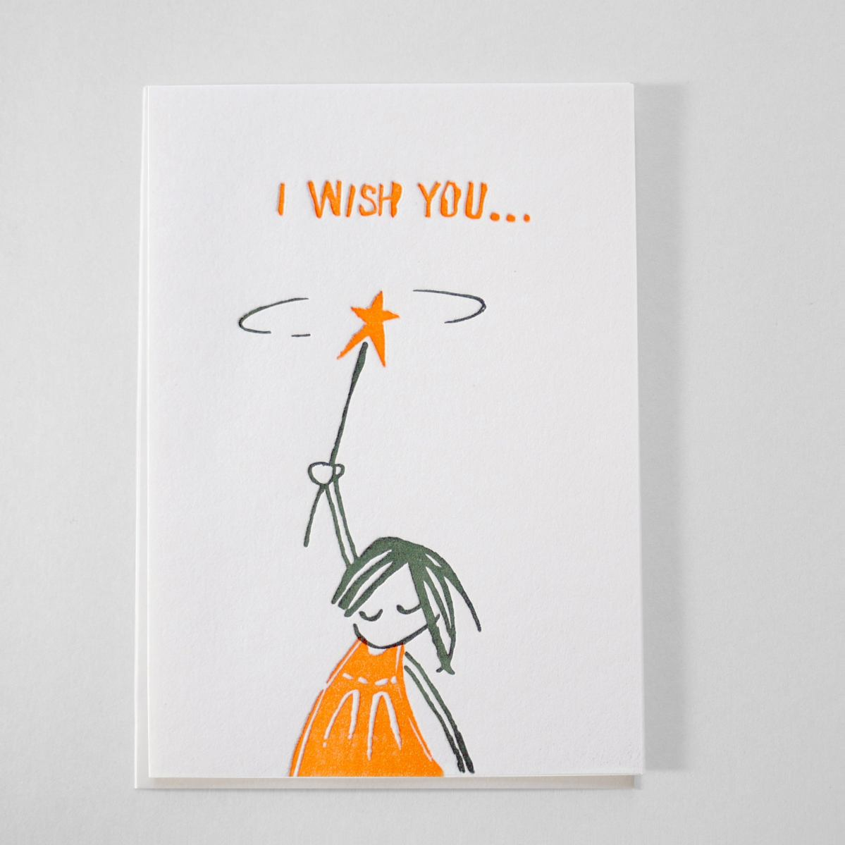 Kikisoso Letterpress Letterpress Birthday Card I Wish You Good Luck Card Best Wishes