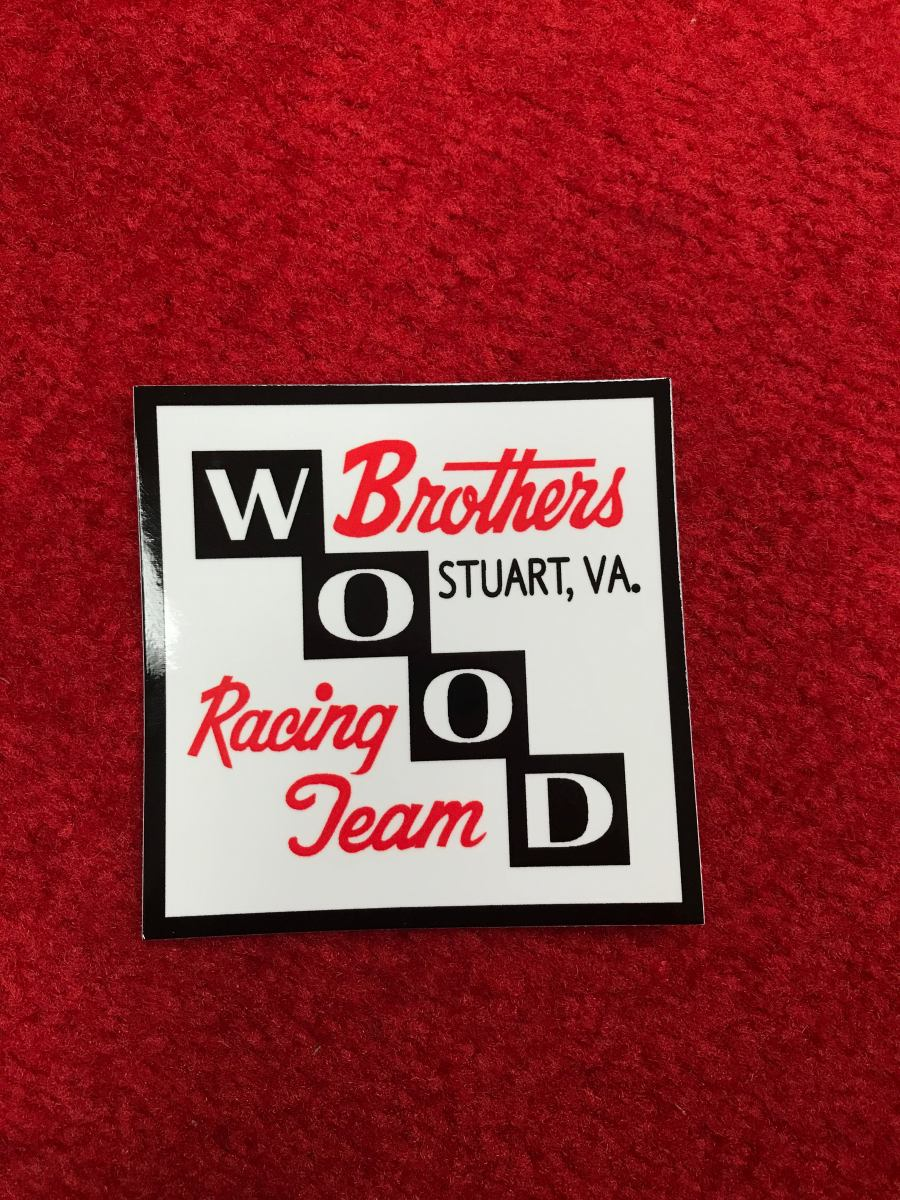 Wood Brothers Racing Block Logo Decal