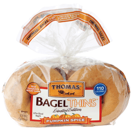 Thomas'® Pumpkin Spice Bagel Thins™ Bagels