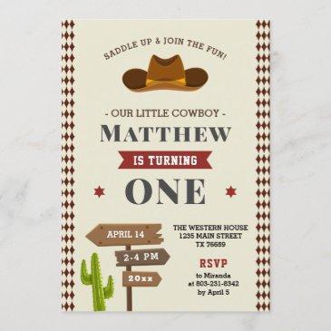 western birthday invitations