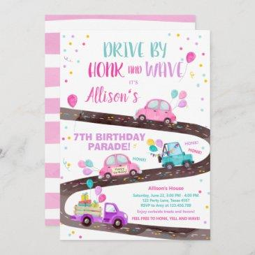 drive through birthday invitations