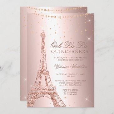 paris birthday invitations