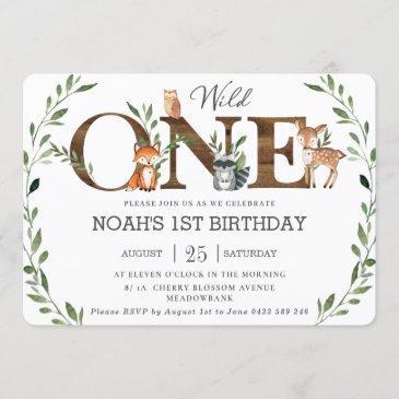 woodland birthday invitations