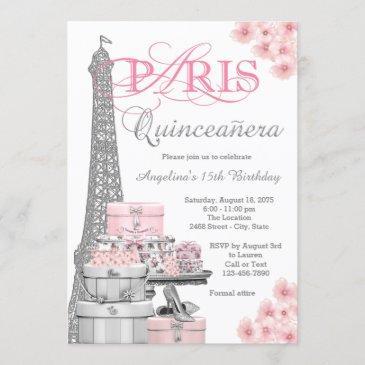paris birthday invitations