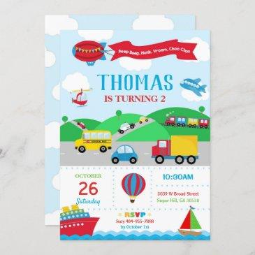Cars Birthday Invitations Birthdayinvitations4u