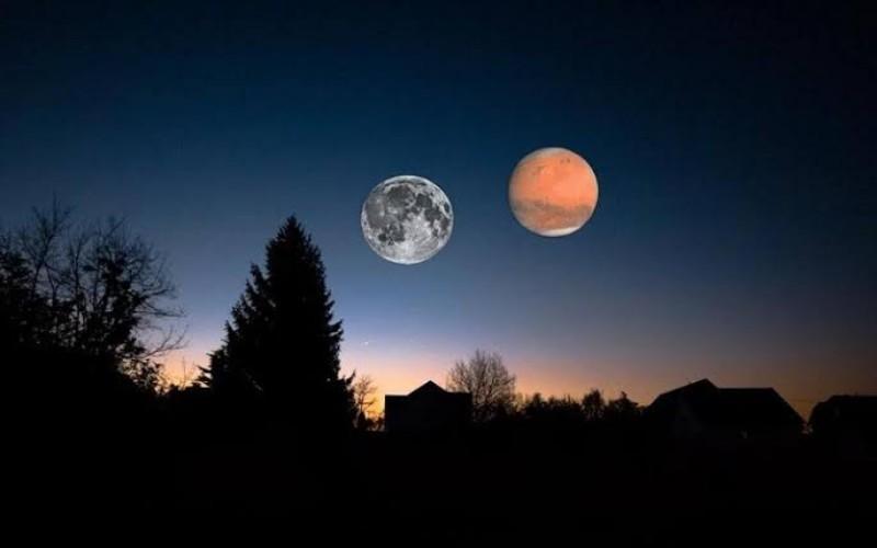 Konjungsi Bulan dan Planet Mars Kembali Terjadi Hari Ini - Teknologi  Bisnis.com