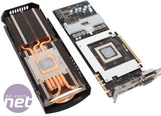 Cliquer pour agrandir - La carte a dissipateurs pour le GPU, la mémoire et la puissance des circuits