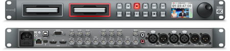 HyperDeck Studio Pro front and back