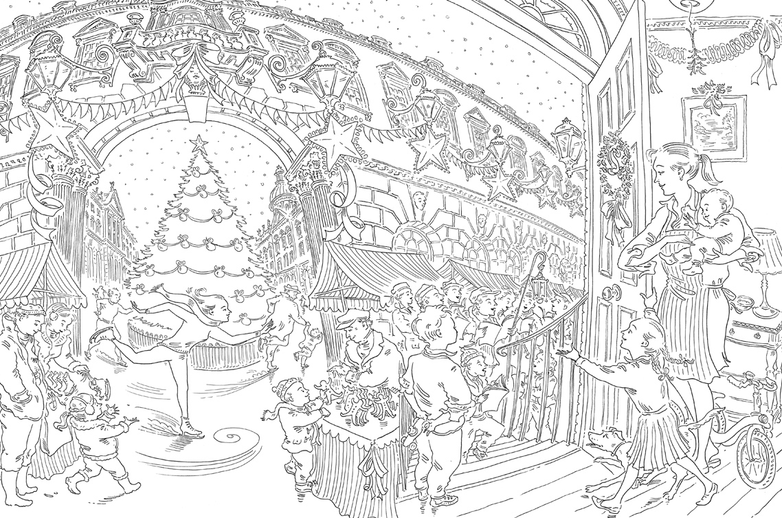paul cox s christmas colouring book free pattern download whsmith