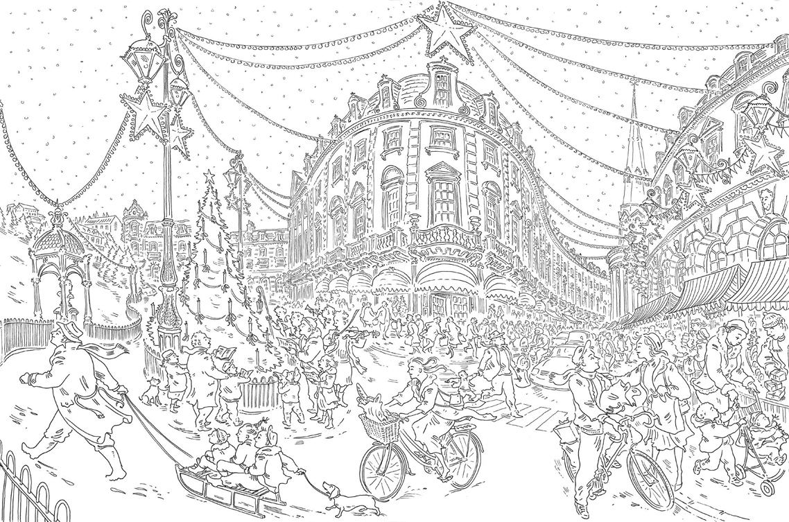 Paul Coxs Christmas Colouring Book Free Pattern Download