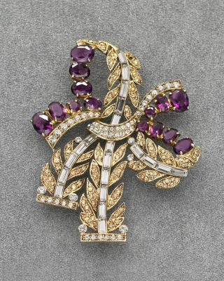 Carolee Lux Large Crystal Stone with Pave Edge Brooch
