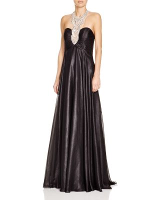 Mignon Embellished Neck Gown Bloomingdales