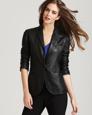 Aqua Luxe Leather Blazer