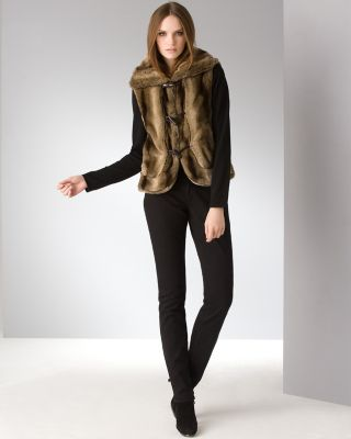 Ellen Tracy Faux Fur Chubby Vest