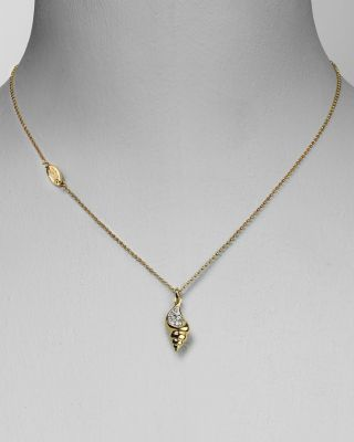 "Juicy Couture Seashell ""Wish"" Necklace 15"""
