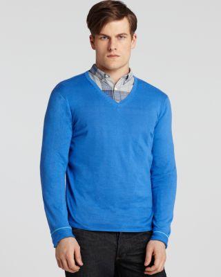 BOSS Black Blaine V-Neck Cotton Sweater