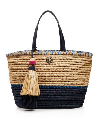 Tory Burch Small Straw Tote Bloomingdales
