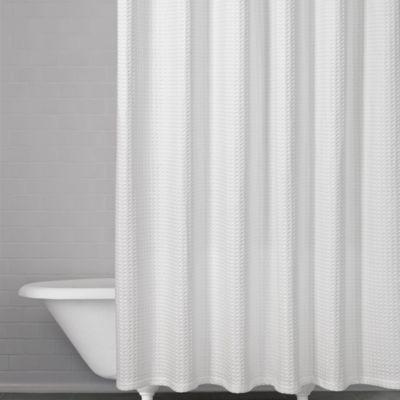 honeycomb waffle shower curtain