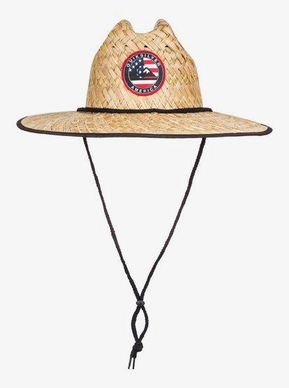 Outsider Merica Straw Lifeguard Hat Aqyha04638 Quiksilver
