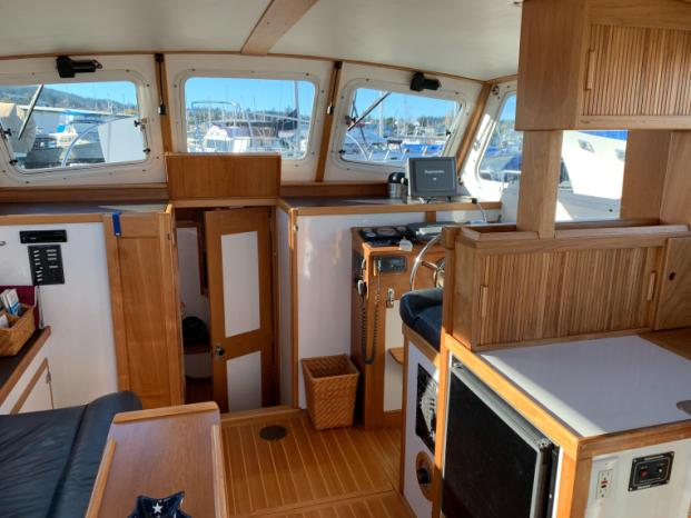 1997 Custom MDI Boatworks Downeast 32 Anacortes Washington Inside Passage Yacht Sales
