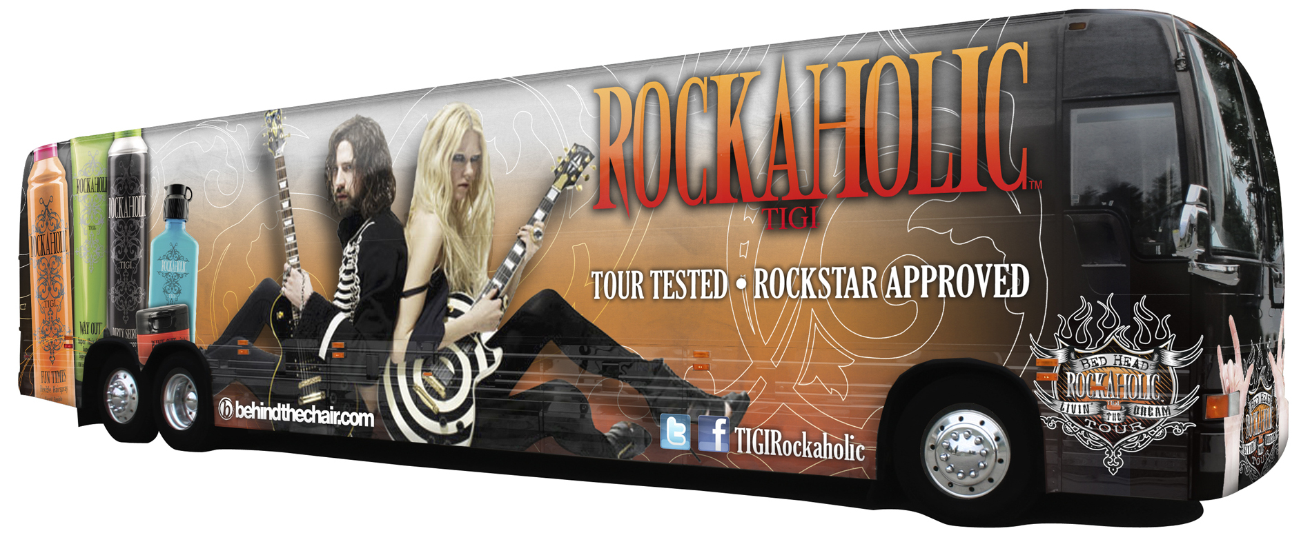 And Roll Tour Inside Rock Bus