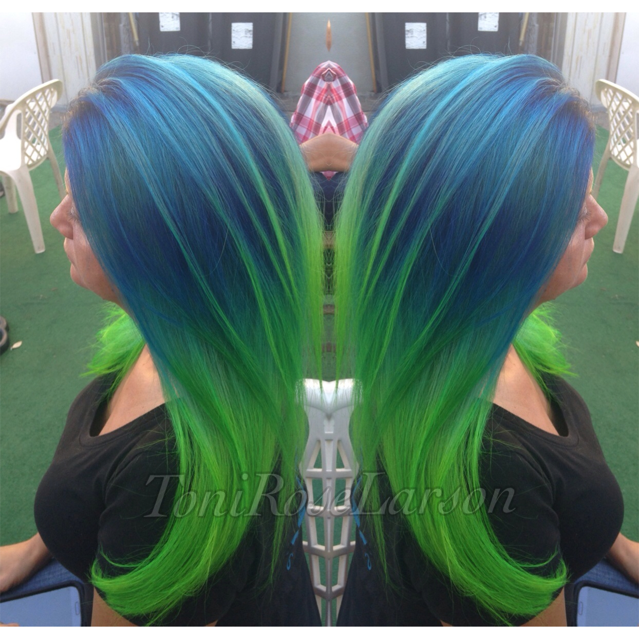 HOW TO BlueGreen Colormelt Hair Color Modern Salon