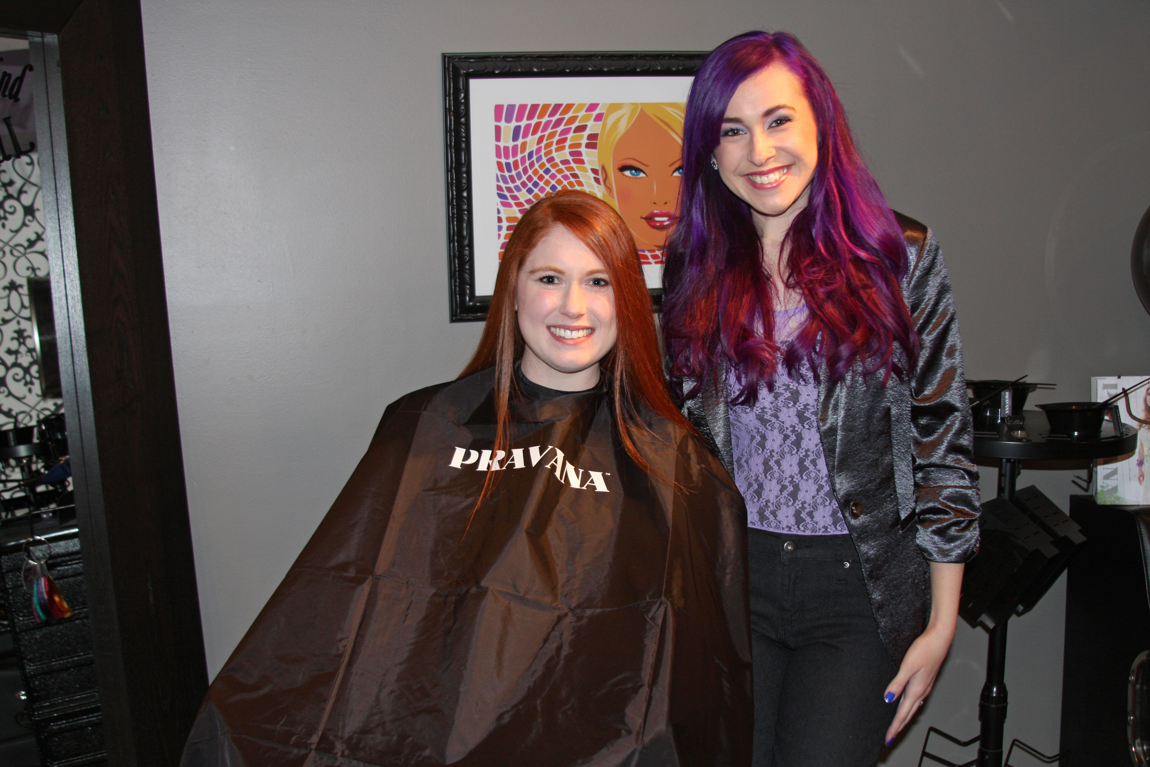 Transformation Level 7 Natural Redhead To Violet With Accents Of Lavender