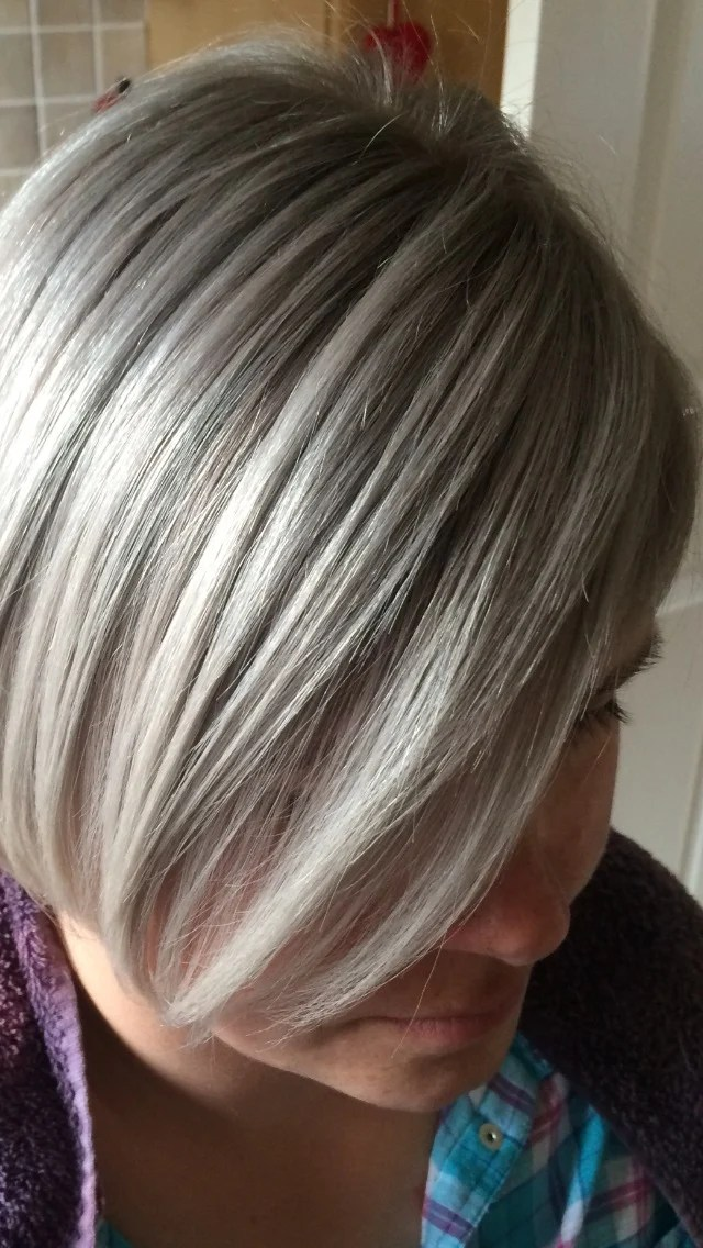 COLOR CORRECTION Hot Pink To A Silvery Ash Career