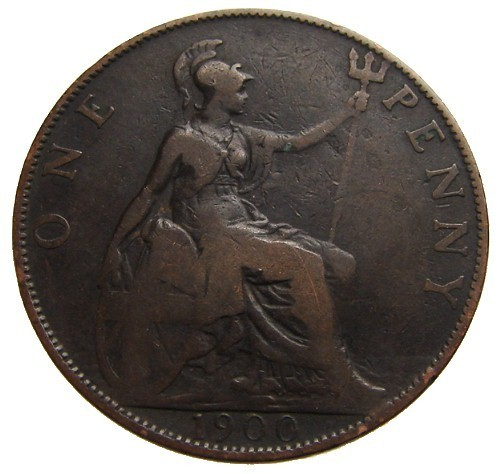 ANTIQUE Over 110 Years Old BRITISH 1900 Victoria One Penny