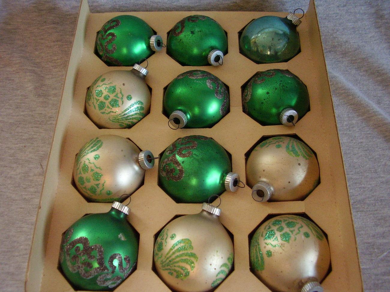 Christmas Antique Mica Ornament