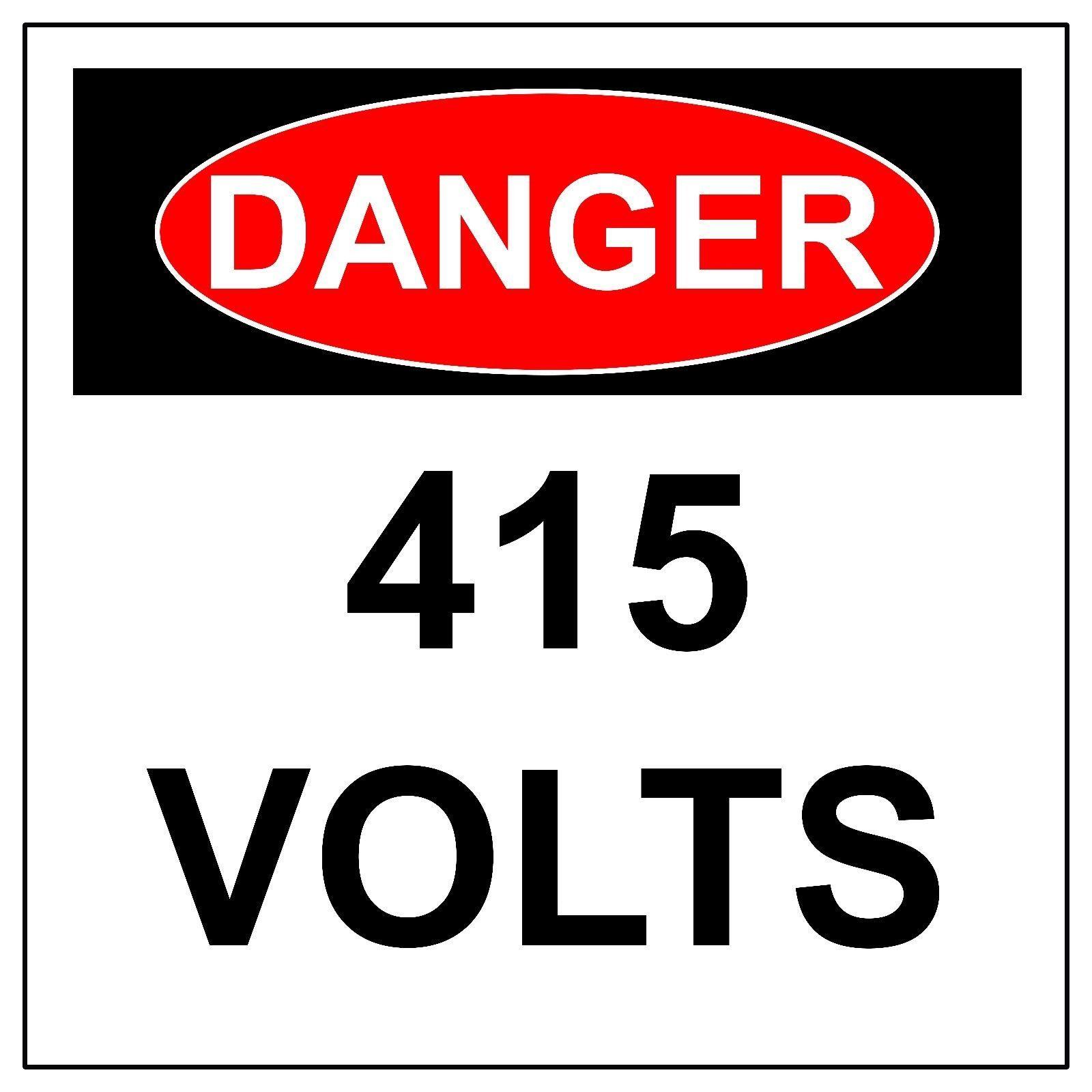 Danger 415 Volts Electrical Hazard Sign Aluminum Metal