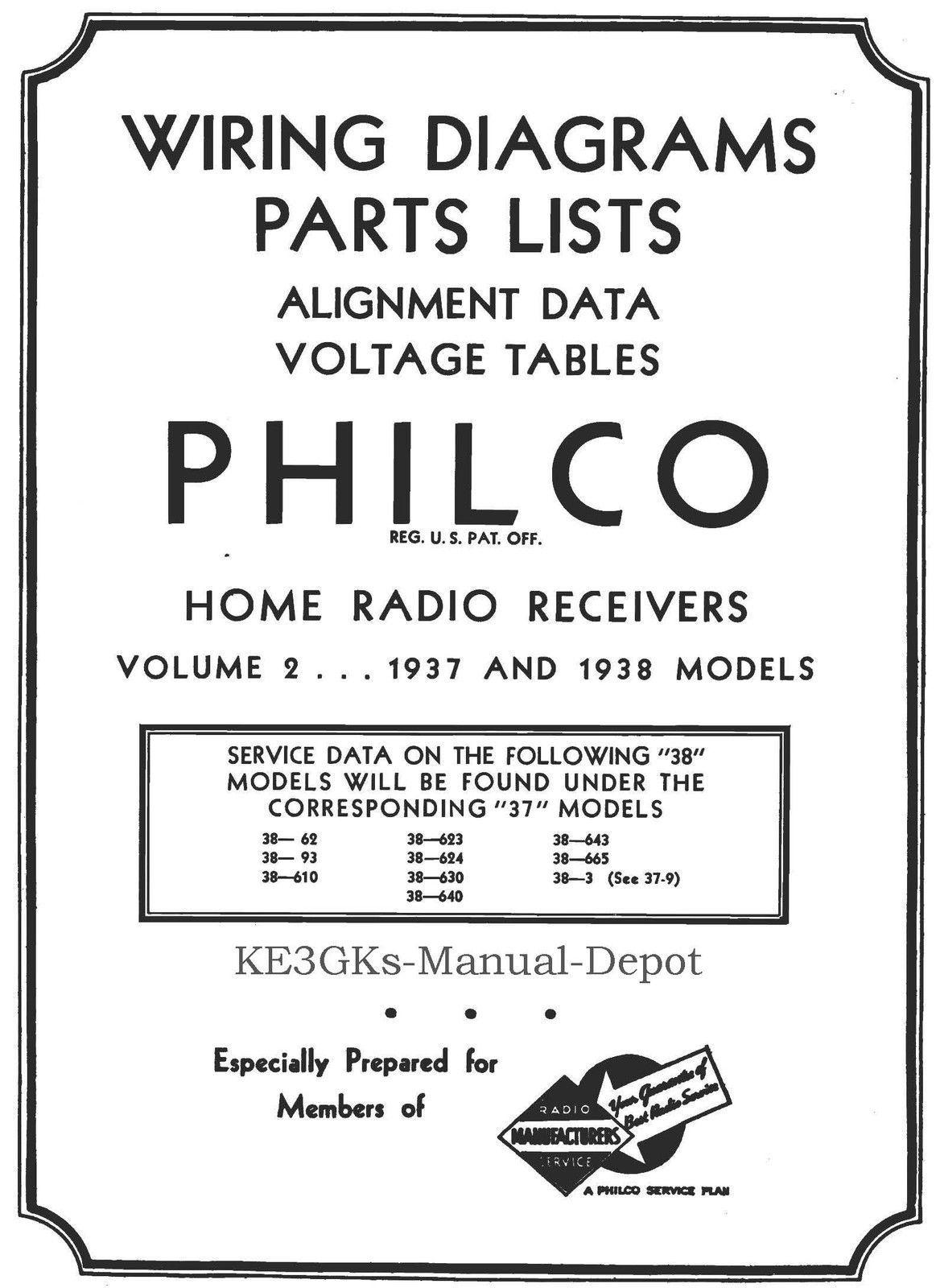 Philco Home Radio Receivers Service Data Cdrom