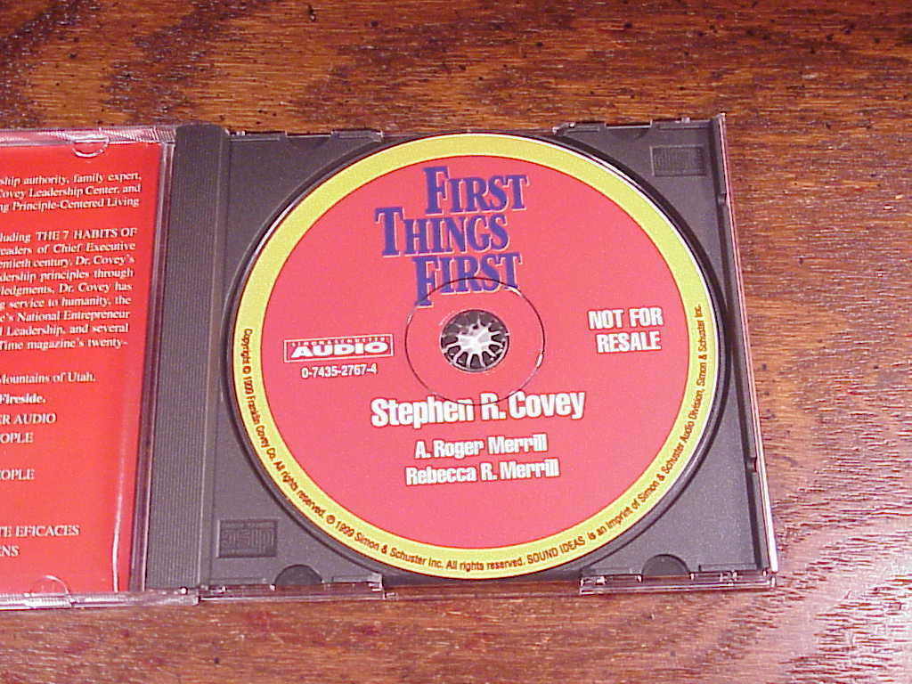 First Things First Cd Audiobook By Stephen R Covey A