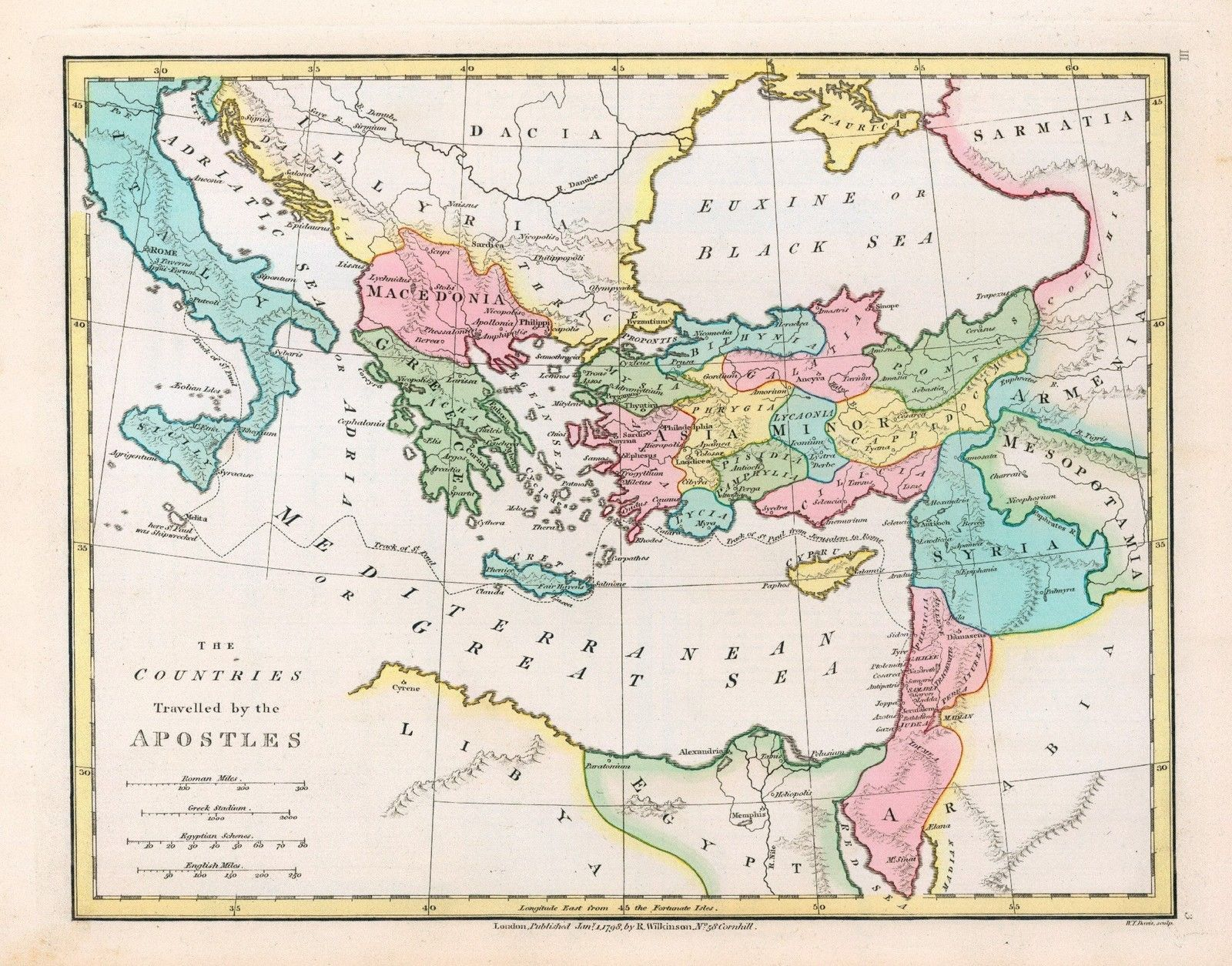 Ancient Civilization Map Travel Apostles Christianity
