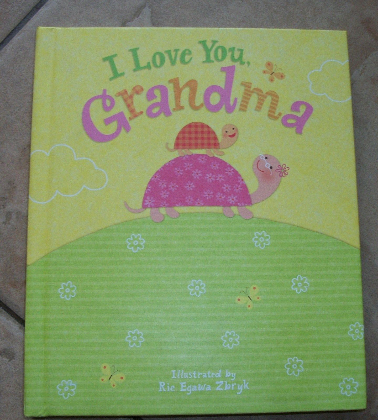 Childrens Book Educational I Love You Grandma Record