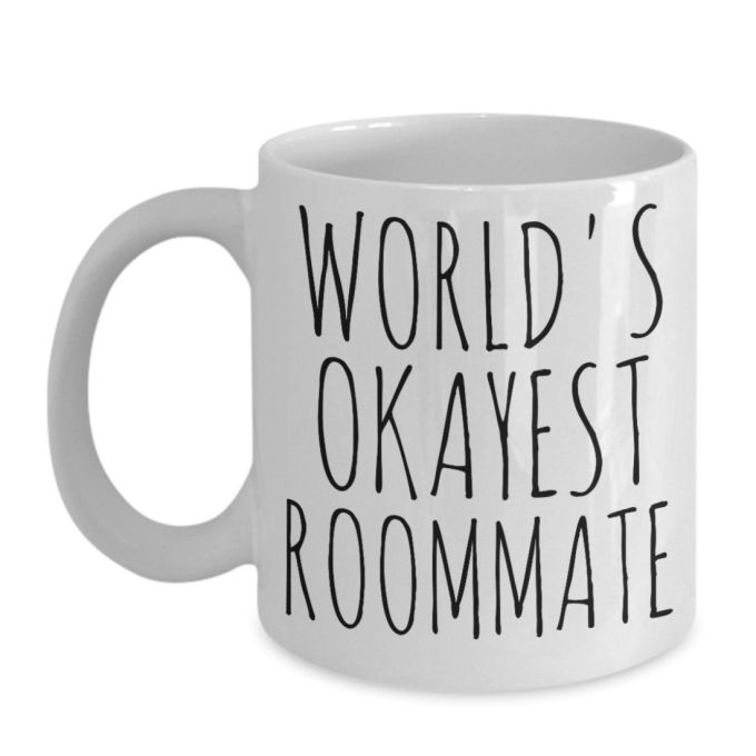 Worlds Okayest Roommate Mug Funny Birthday And 50 Similar Items