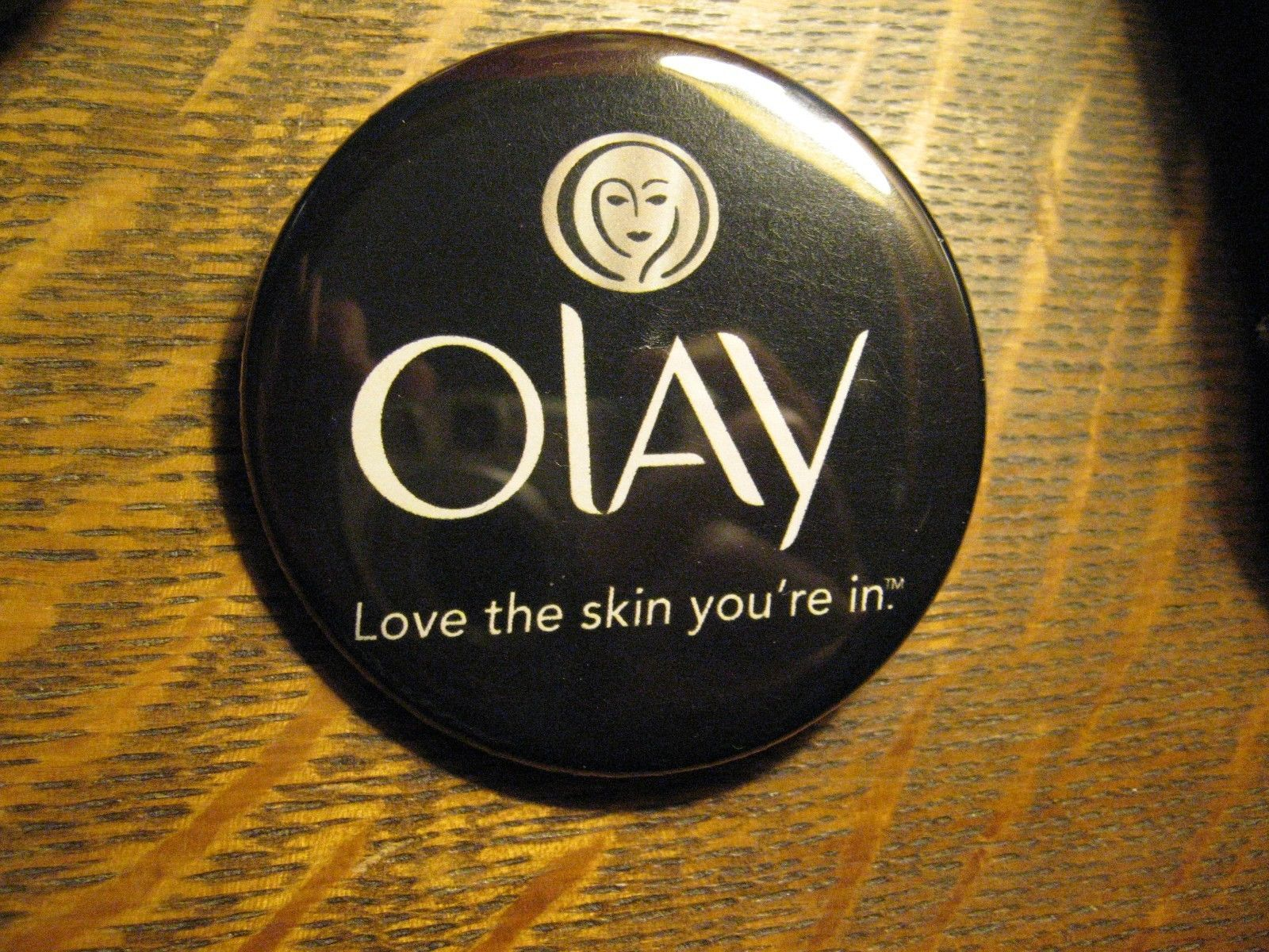 Oil Of Olay Love The Skin You Re In Logo Advertisement Pocket Lipstick Mirror