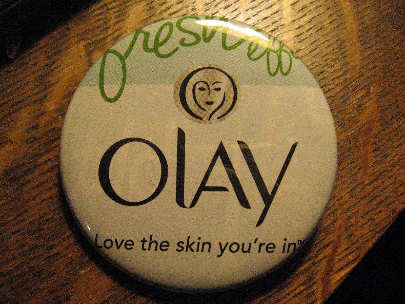 Oil Of Olay Love The Skin You Re In Face Cream Logo Advertisement Pocket Mirror
