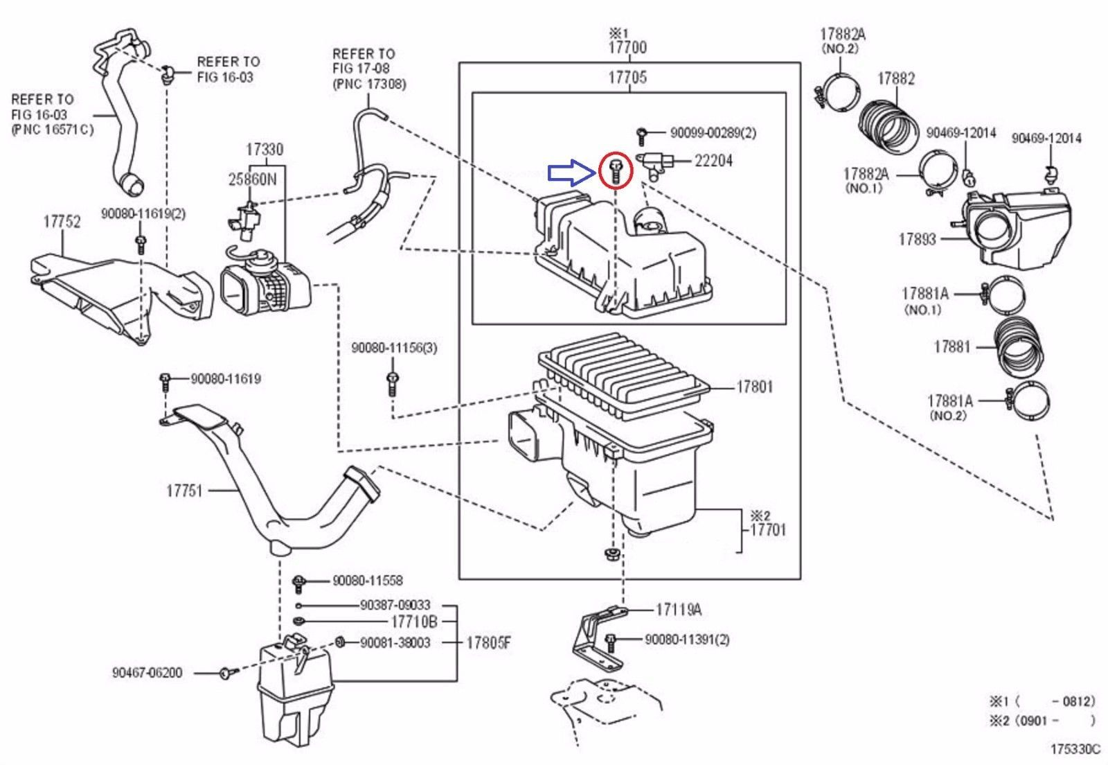 New 2 Genuine Oem Lexus Toyota Camry Air Filter Element
