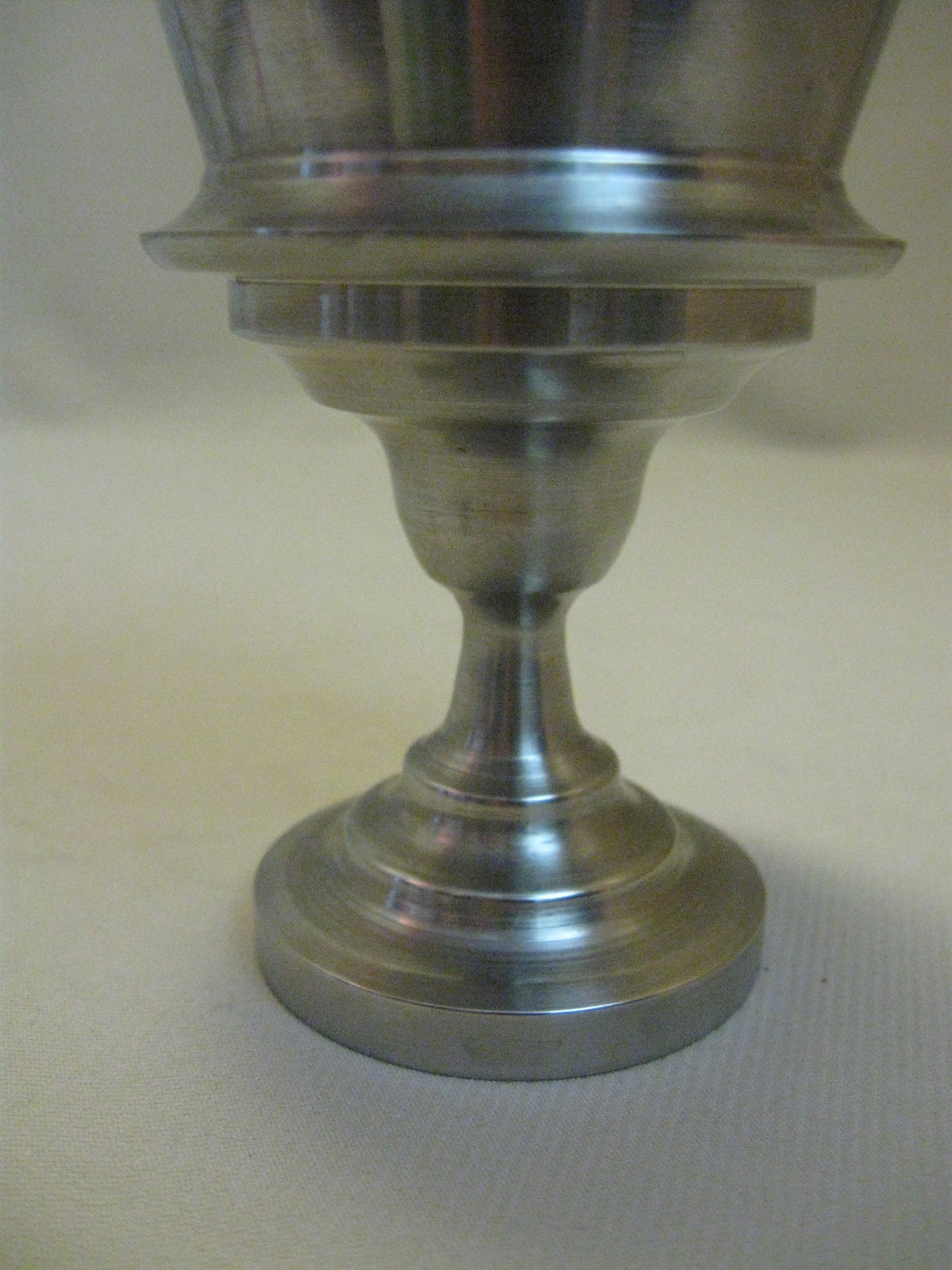 Pedestal Candle Holder Candy Dish Silver Plate Tone