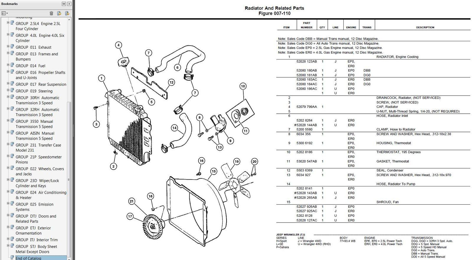 Jeep Cj5 Part List
