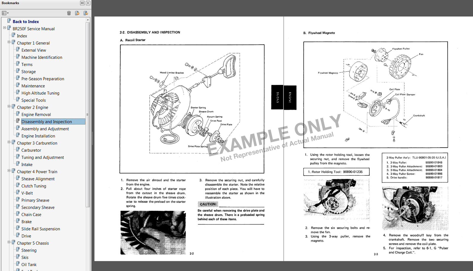 Yamaha Vmax 500 600 Snowmobile Service Manual