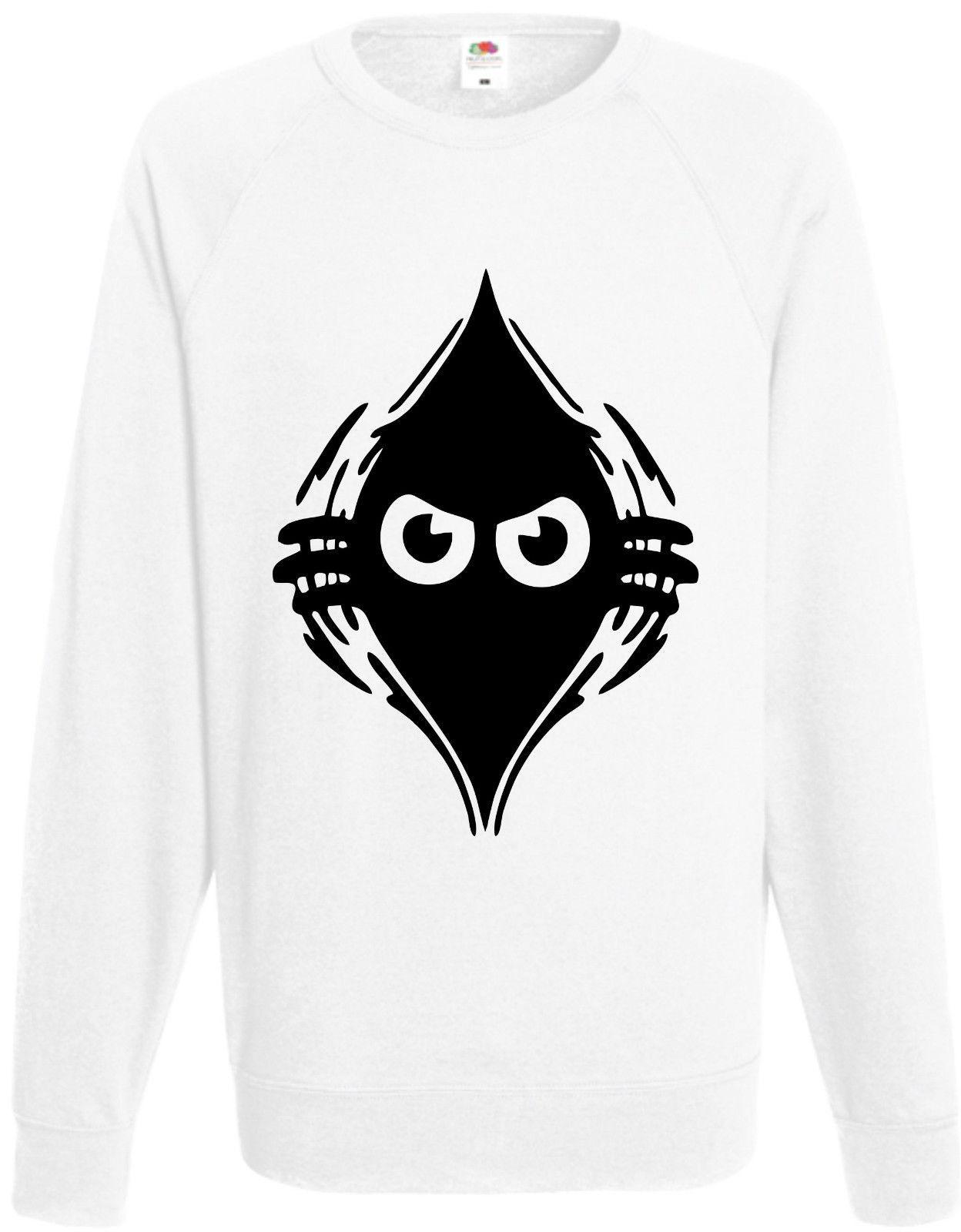 Peeking Monster Sweatshirt Funny Jumper Angry Rip Comedy