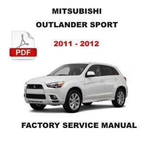 2011  2012 MITSUBISHI OUTLANDER SPORT FACTORY REPAIR