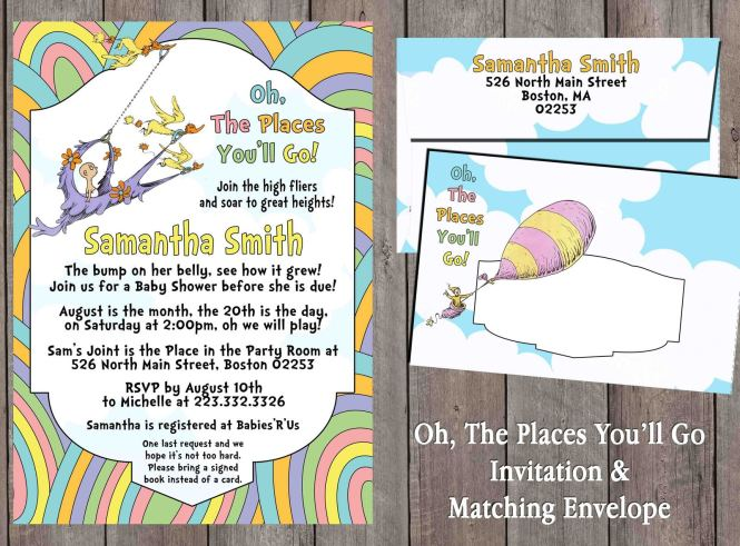 Oh The Places You Ll Go Invitation