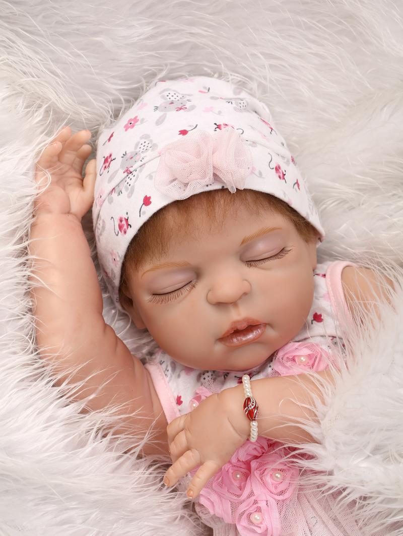 """23"""" Full Body Silicone Sleep Fake Baby Anatomically ..."""