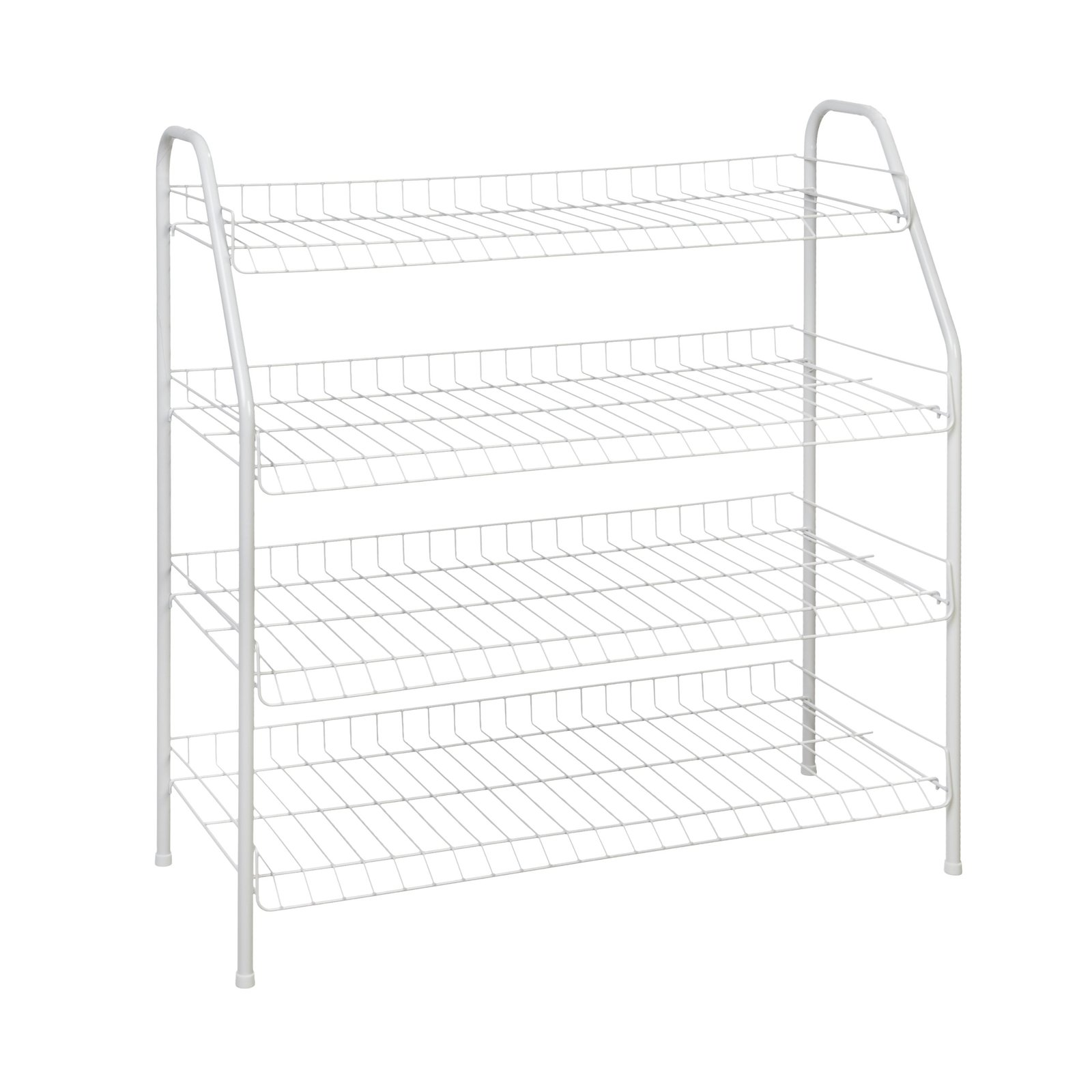 Closetmaid 4 Tier Freestanding Shoe Rack White 1 Pack