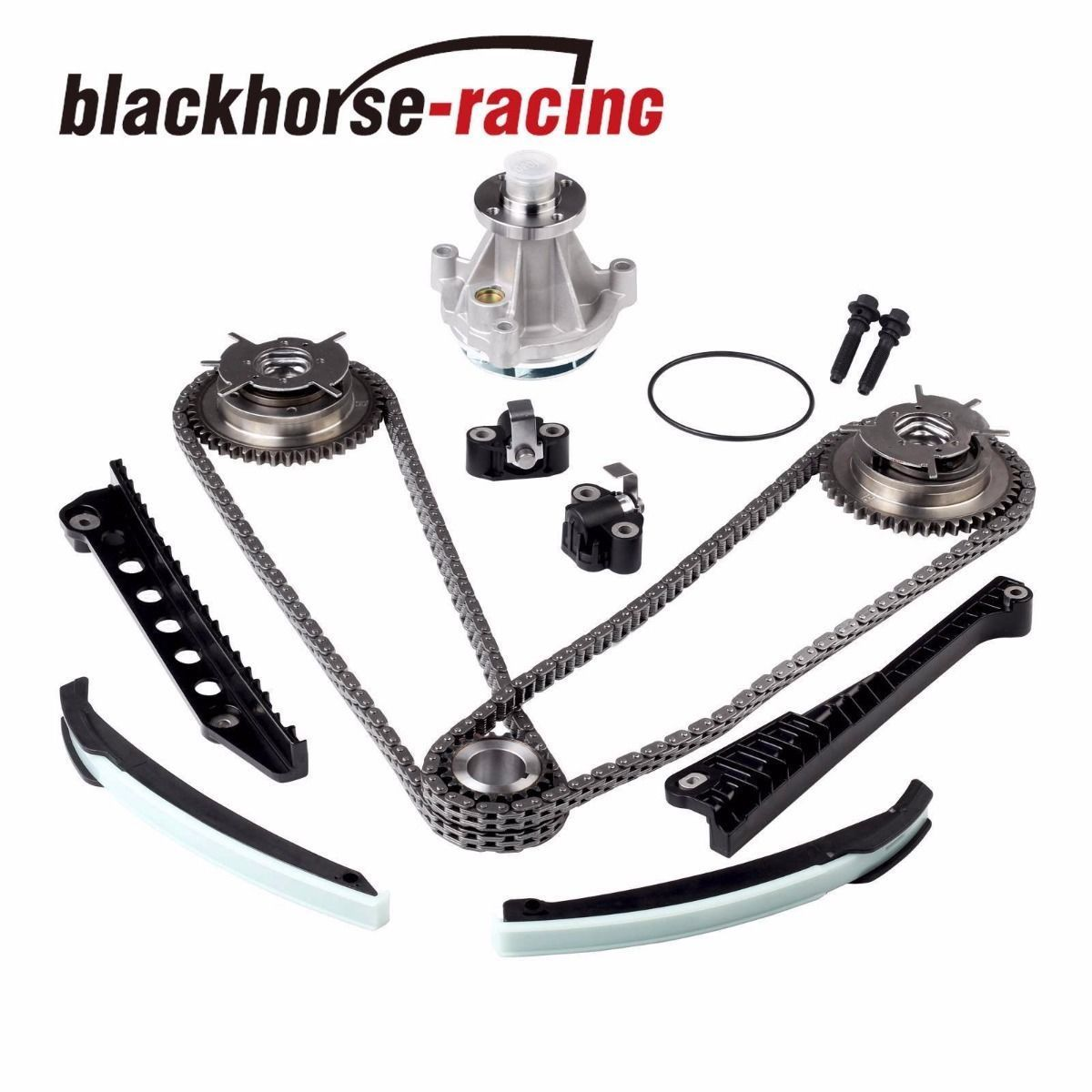 Timing Chain Water Pump Kit Cam Phasers F150 Lincoln 5