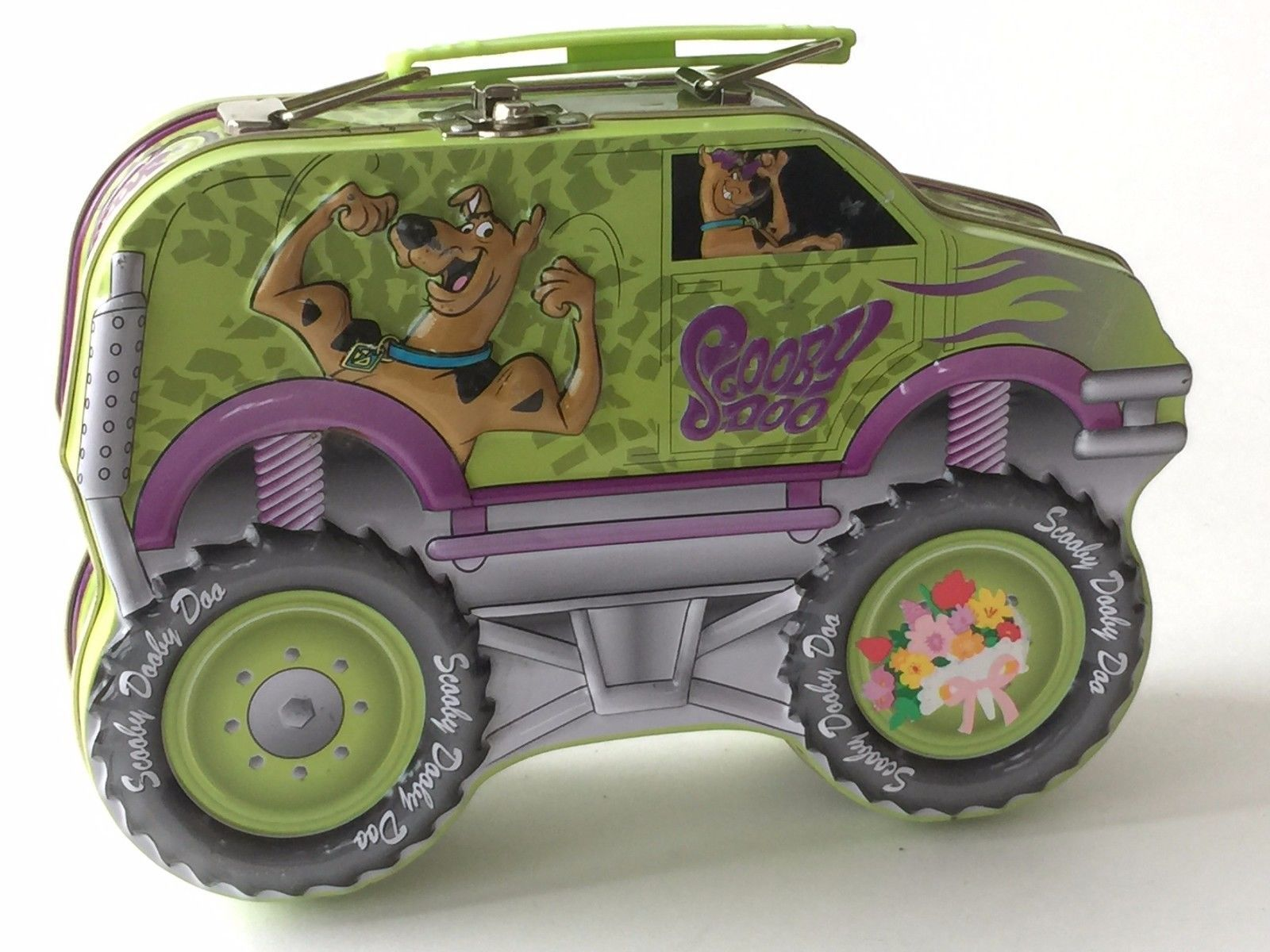 Scooby Doo Monster Truck Collector Tin Lunch Box Large 8