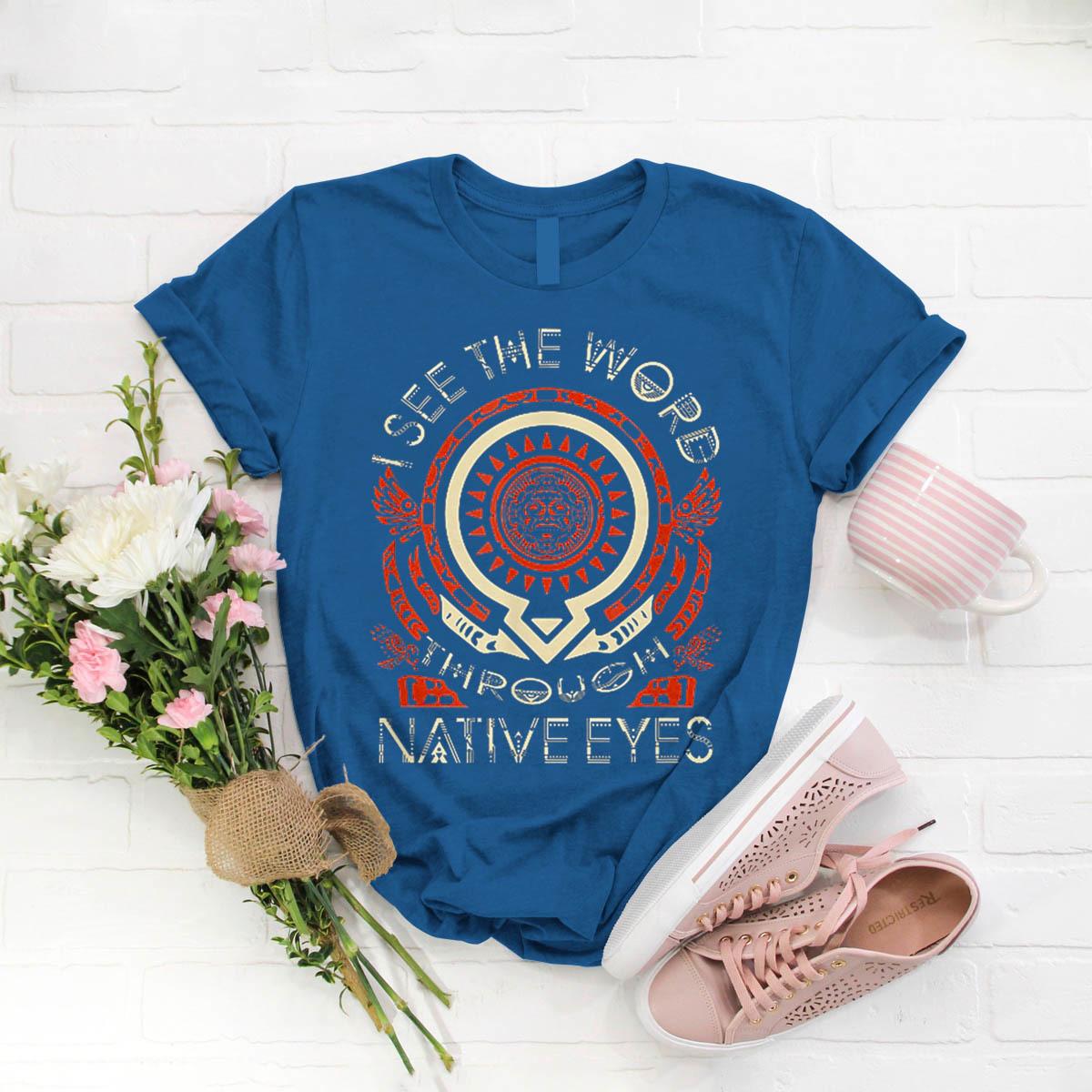 Cherokee Native American Symbols T Shirt Birthday Funny